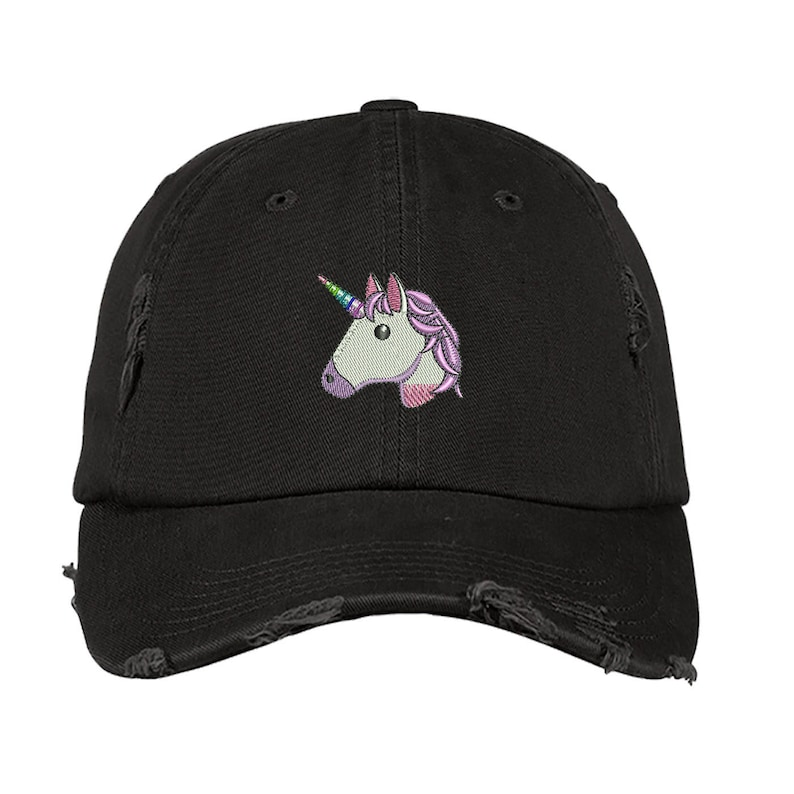 UNICORN Distressed Dad Hat | Unicorn Lover Hat | Unicorn Party Favor |  Unicorn Outfit | Unicorn Costume | Unicorn Hat | Unicorn Crown |Black