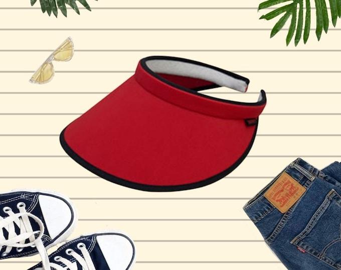 Solid Clip On Sun Visors, Cotton Visor Hat, Golf Sun Visor Hat, Women's Visor hat, Sun Hat, Beach Hat, Unisex Cotton Visor Hat, Clip On Hat