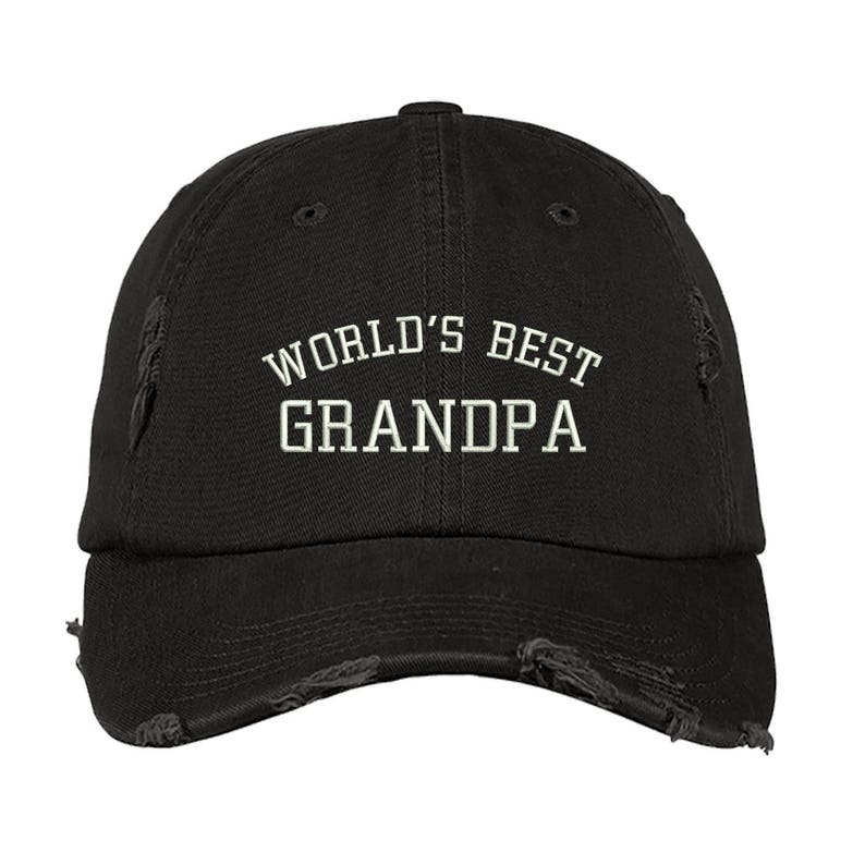 8e9534a41a2 Worlds Best Hat World s BEST GRANDPA Distressed Dad Hat