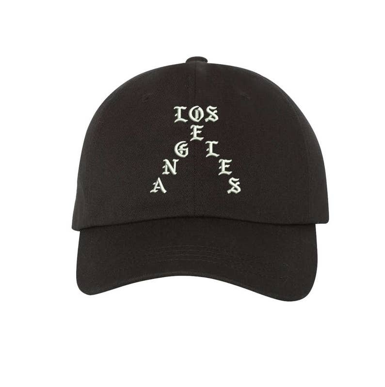 ac4ab18dcadd7 Hats LOS ANGELES Dad Hat Embroidered Baseball Cap Yeezy Dad