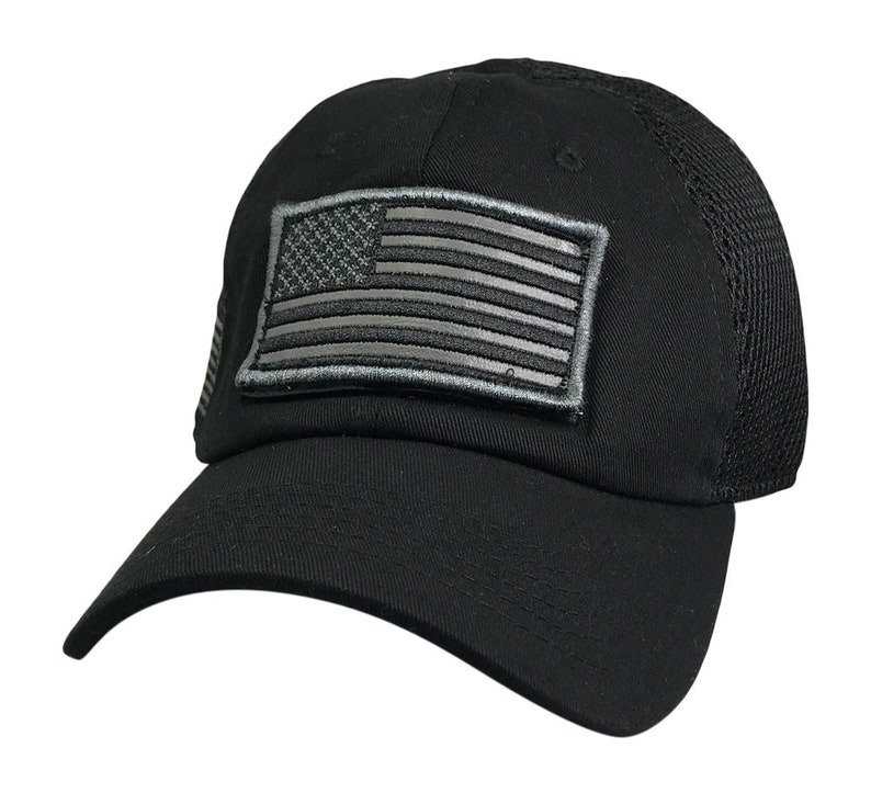US Flag Patch Trucker Hats USA Flag Baseball Hats Trucker Velcro Patch USA  Hats Removable Embroidered Patch