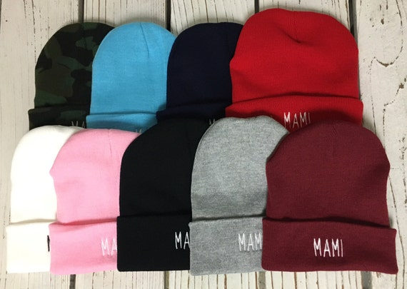 MAMI Embroidered Beanie Cuffed Cap - Multiple Colors