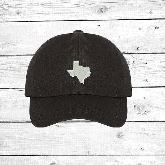 Custom Baseball Cap Texas Outline Map C Embroidery Dad Hats for Men /& Women