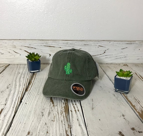 CACTUS WASHED Dad Hat Succulent Lover Gift Plants Hat  90e8f10a8cc5