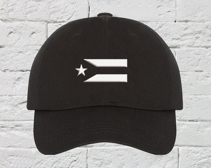 Puerto Rico Resistance Flag Baseball Hat Low Profile Hat Embroidered Baseball Caps Puerto Rico Dad Hats Anarchy Protest Hat Unisex
