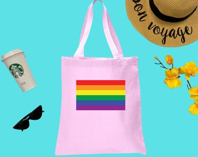 Gay Pride Canvas Tote Bag, Cotton Tote Bag, Print Tote Bag, Reusable Market Bag, Coffee Bag, Cute Tote, Eco-Friendly Shopping Bag