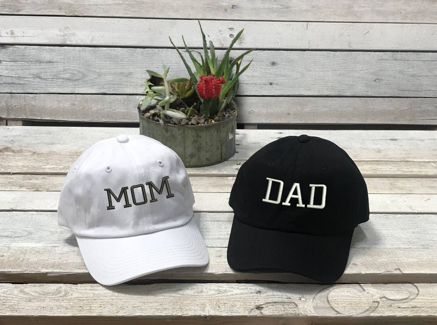 c8a5bb5f2ec4d DAD Hat MOM Hat New Parent Gift Gender Reveal Expecting Couples ...