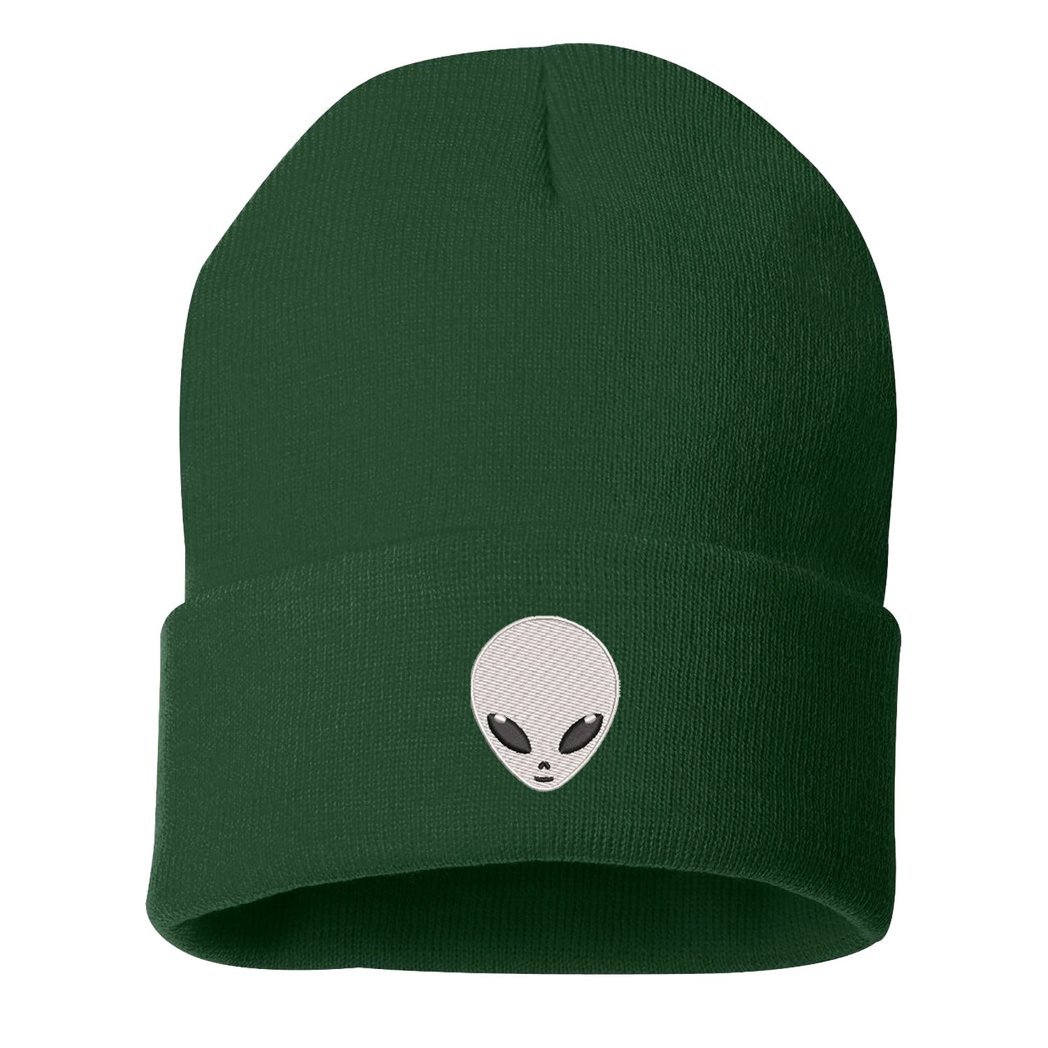 4897e954ed69f ALIEN Cuffed Beanie Embroidered Beanie Halloween Costume Cuffed Cap ...