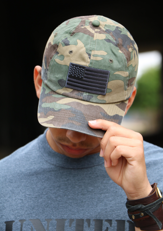 ... Military Camouflage Flag Baseball Cap f657f89b5f9