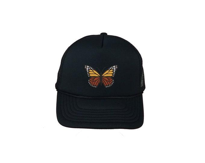 Monarch Butterfly Trucker Cap, Nature Trucker Hat, Foam Trucker Hat, Animal Lovers Trucker Caps Unisex Trucker Caps Hats, Gift for her