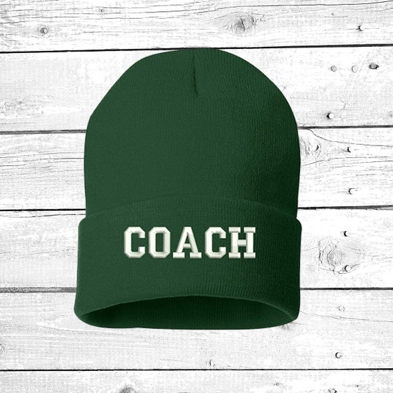 Baseball Coach/  Custom Personalized Embroidery Embroidered Beanie