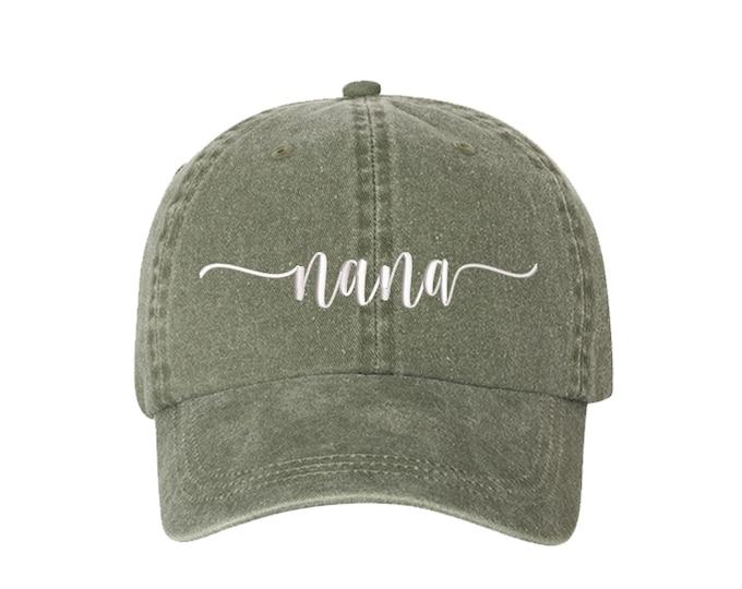 Nana Washed Dad Hat, Nana Baseball Hat, Grandma Hats, Gifts for Grandma, Nana Baseball Hat, Gifts for her, Mother's Day, Writing Font Hat