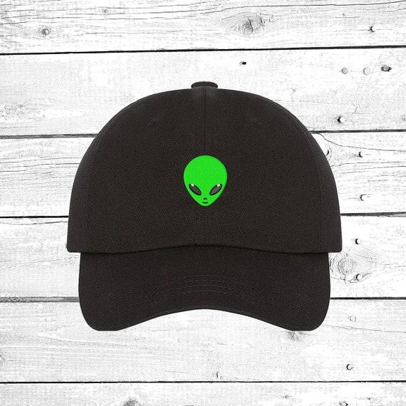 Alien Baseball hats Outer Space Hat Alien Head Cap UFO Tumblr  13bd60737d3