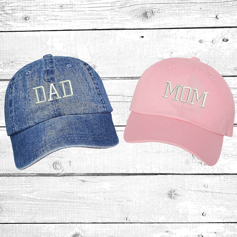 4a0b79c7b75 Hats DAD   MOM Embroidered Dad Hat Expecting Parents