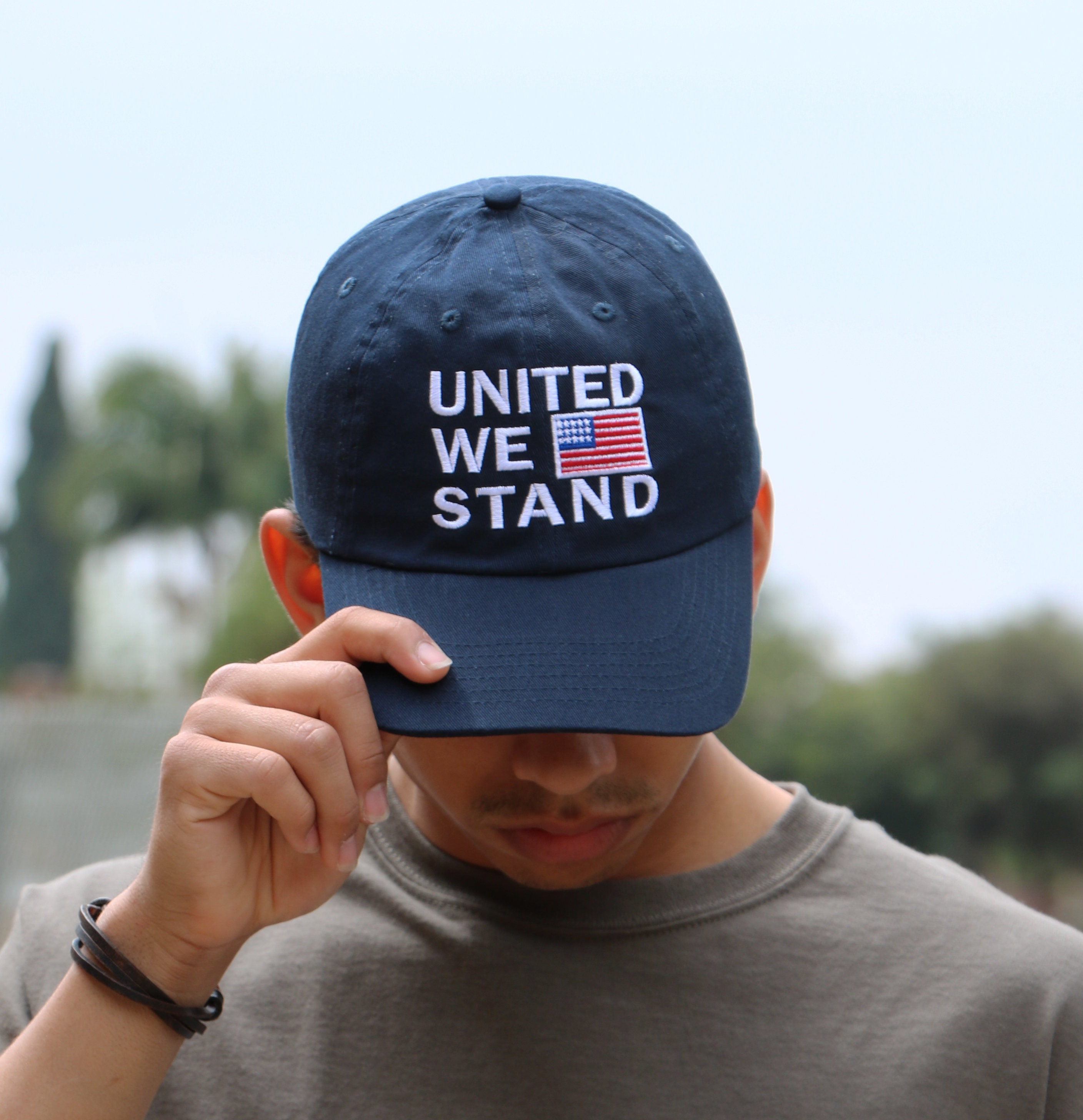 United we stand Dad Hat, American Flag Hat, America Baseball