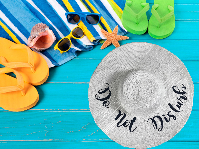 8eebacce669 DO NOT DISTURB Beach Sun Hat