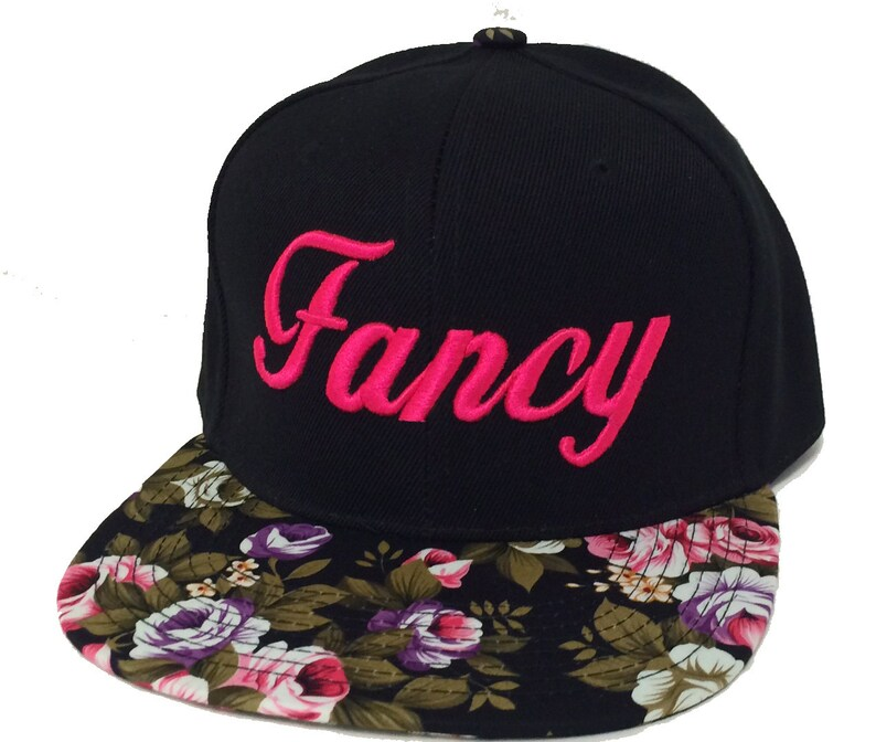 2e01c62b160 FANCY 3D Flat Bill Snapback Hat Hip Hip Im so Fancy Cap Floral