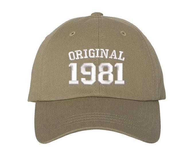 Original 1981 Birthday Baseball Hat, 80th Birthday Dad Hat, Embroidered Baseball Hat, 2021 Birthday Baseball Hat, Unisex Baseball Cap