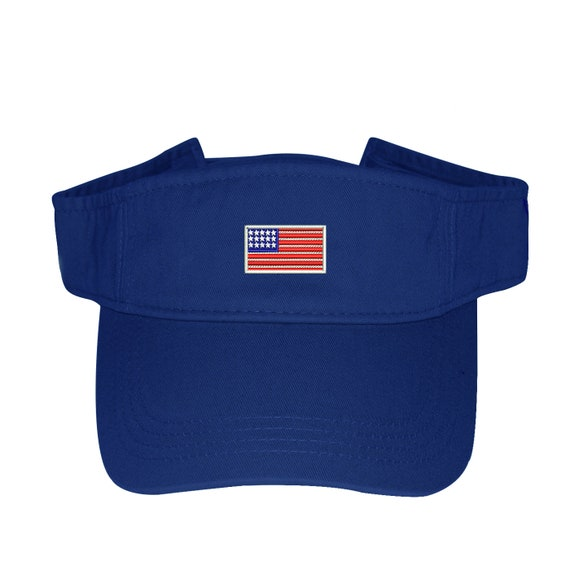 7ff585334c2 USA Flag Visor Labor Day Sun Visors Flag Visor Hat Red white