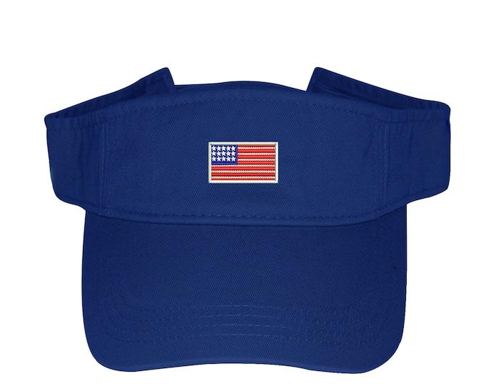 USA Flag Visor Labor Day Sun Visors, Flag Visor Hat, Red white and Blue, Memorial Day Visor Hat, 4th of July Visor, Sun Hat, Beach Hat