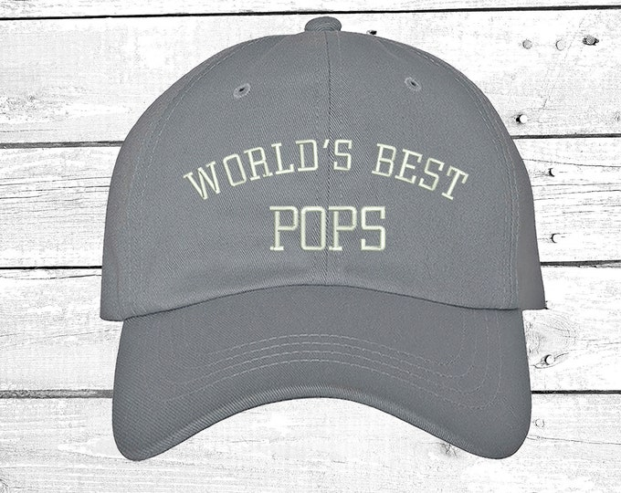 World's BEST POPS Baseball hat for best buds Grandfather Gift for Grandpa Hats Gift for Dad Best friend Cap Papa Hat Abuelo Cap