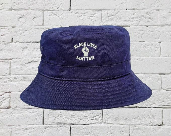 Black Lives Matter Bucket Hat, BLM Hats, Fisherman Hats, No Justice No Peace Hats, Anarchy Unisex Bucket Hats, ACAB Caps, Bucket Caps