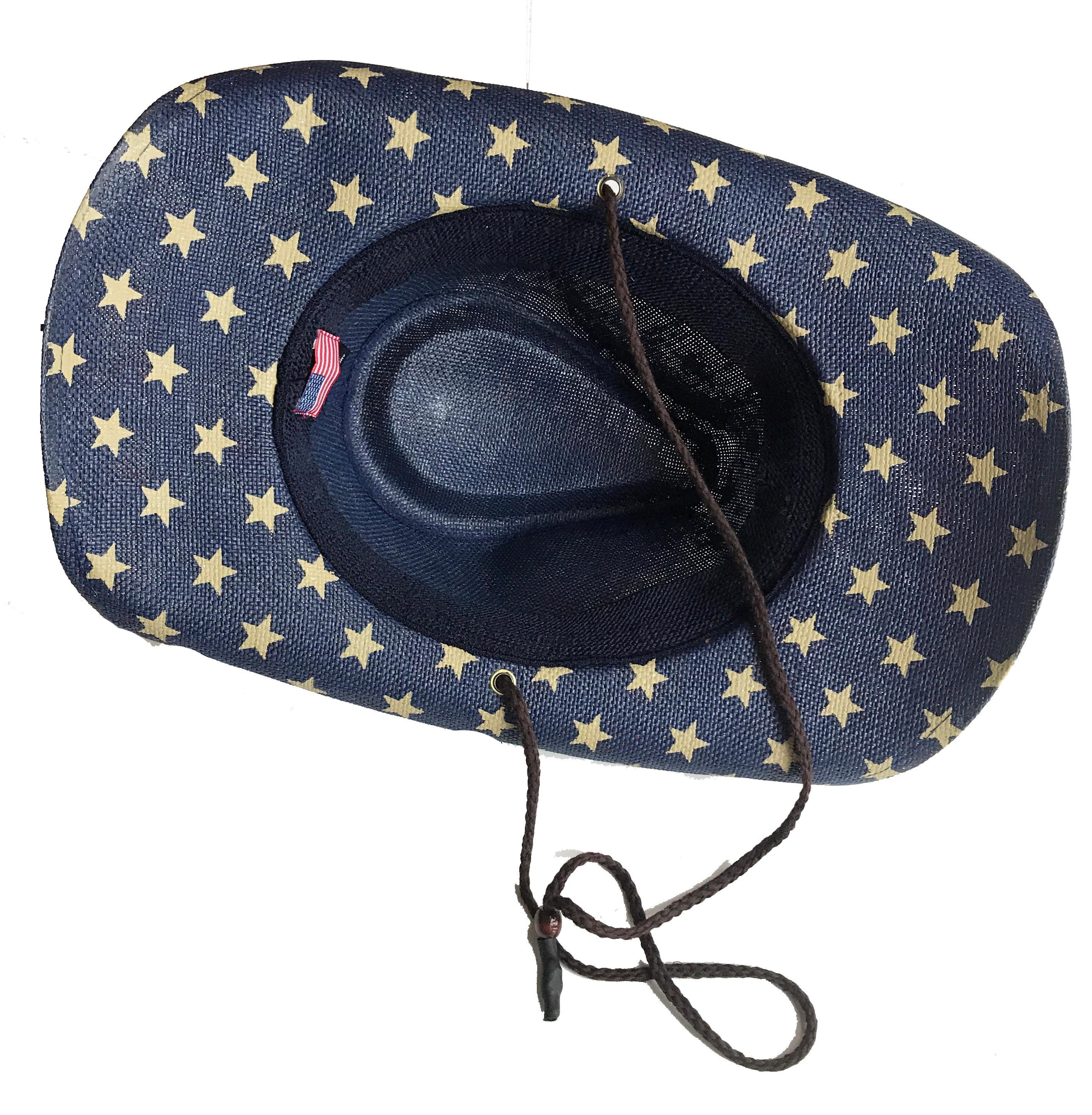 4ff10bedb883f ... American Flag Cowboy hat