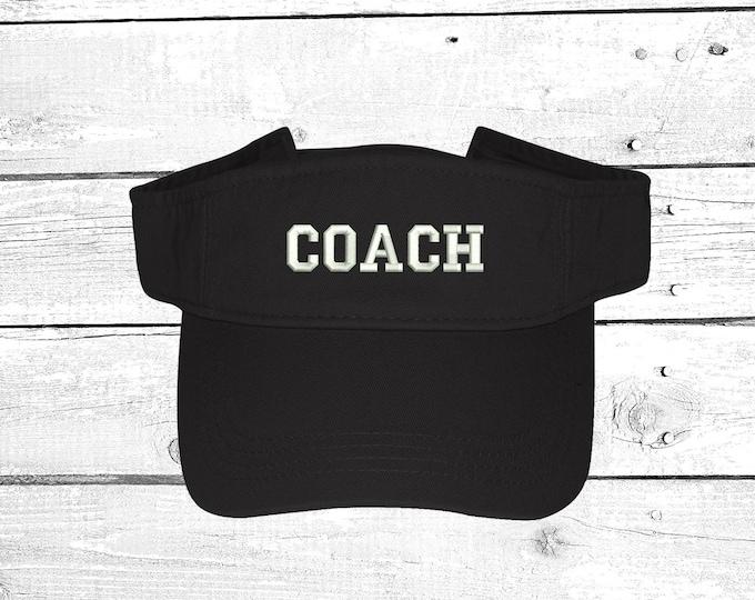 COACH Visor Sun Visors Gift for Sports Coach Visor Hat Beach Hat Gift for Basketball Coach
