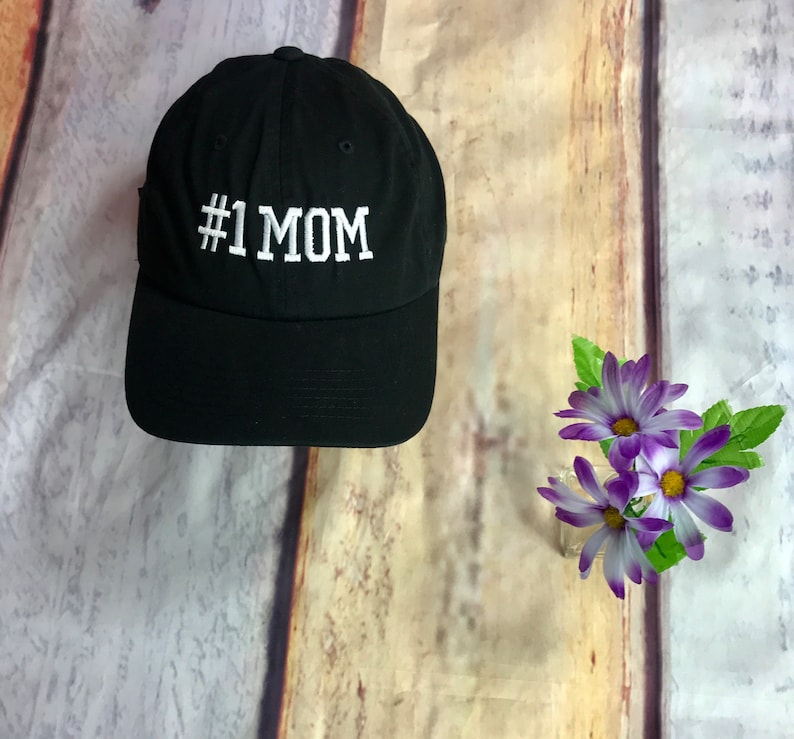 31010974d0e 1 Mom Baseball Hat 1 Mom Baseball Cap Mom Dad Hat Gift