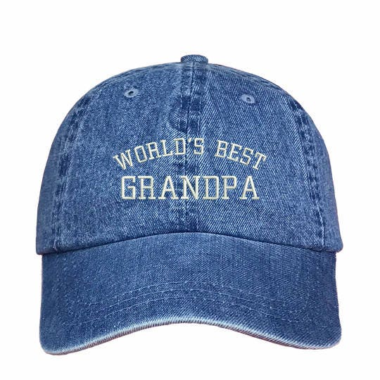 WORLDS BEST FATHER IN LAW PERSONALISED BASEBALL CAP GIFT DAD GRANDAD