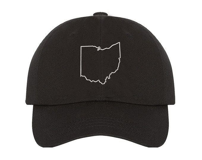 State Outline Baseball Hat, State Silhouette Embroidered Dad Hat, USA State Hats, New York Hats, California Hats, Texas Hats, Arizona Hats