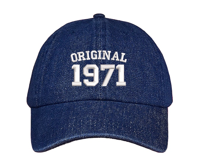 Original 1971 Birthday Baseball Hat, 70th Birthday Dad Hat, Embroidered Baseball Hat, 2021 Birthday Baseball Hat, Unisex Baseball Cap