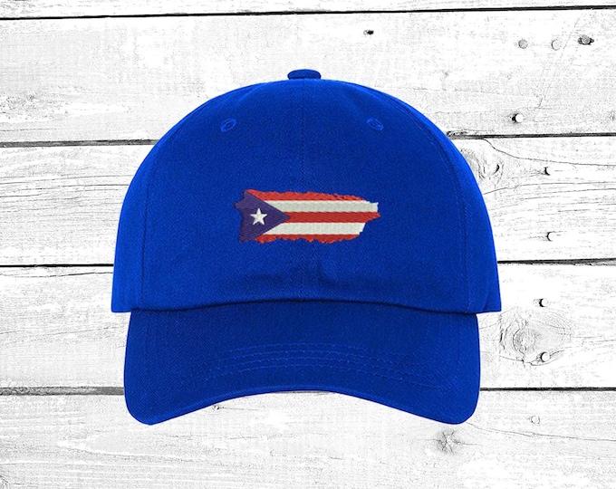 Puerto Rico Hats Puerto Rico Baseball Hat  Boricua Caps PR Cap Se Levanta La Isla de Puerto Rico Hats Unisex Hats
