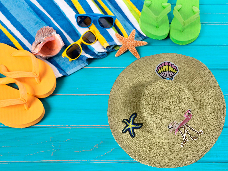 FLAMINGO Sea Shell Beach Sun Hat  91bbfaa2a2ef
