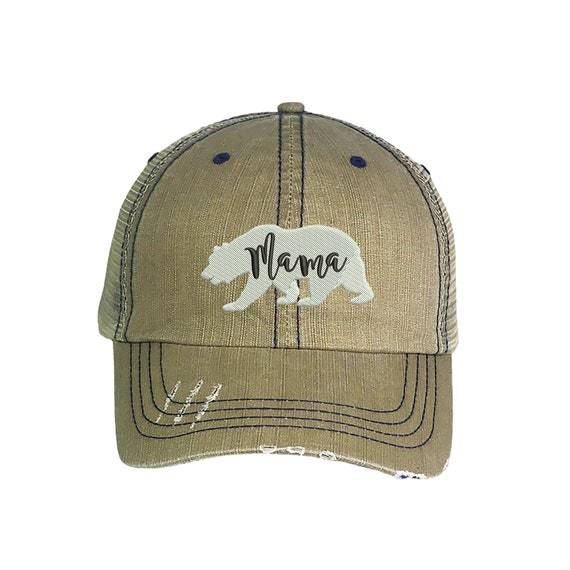 Mama Bear Funny Navy Blue Baseball Cap Hat Adjustable Unisex Mom Mother Gift