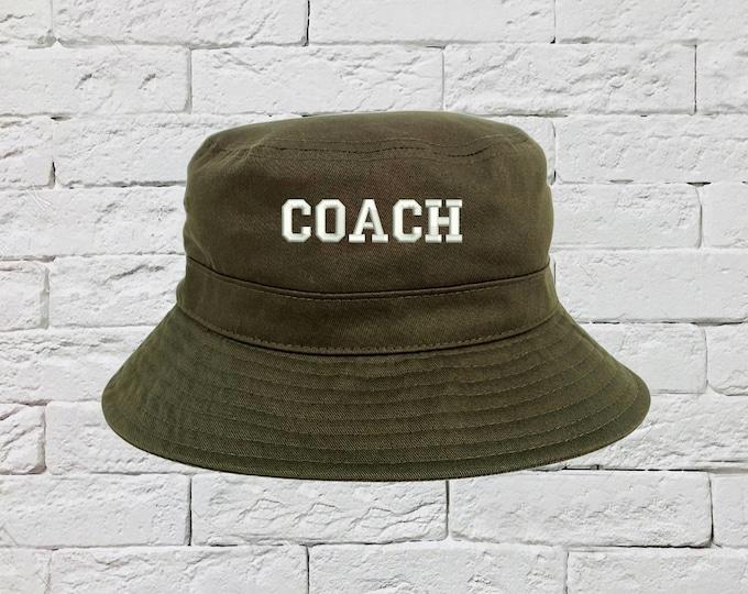 COACH Hat, Sports team Hats, Fisherman Hats, Fitness Hats, Unisex Bucket Hats, NFL Caps, NBA Bucket Caps, Gift for coach Sun Hats, Coach Cap