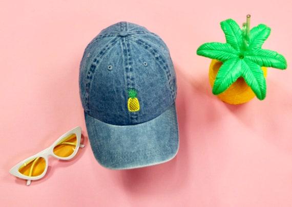 PINEAPPLE Baseball Hat Fruit Baseball Hat Embroidered  dac6414d602
