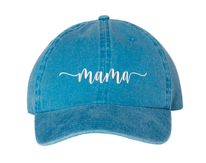 Mama Washed Dad Hat, Mama Dad Hat, Embroidered Dad Hat, Gifts for Her, Mothers Day Gift, Mothers Baseball Caps, Gift For Mom, Baseball Cap