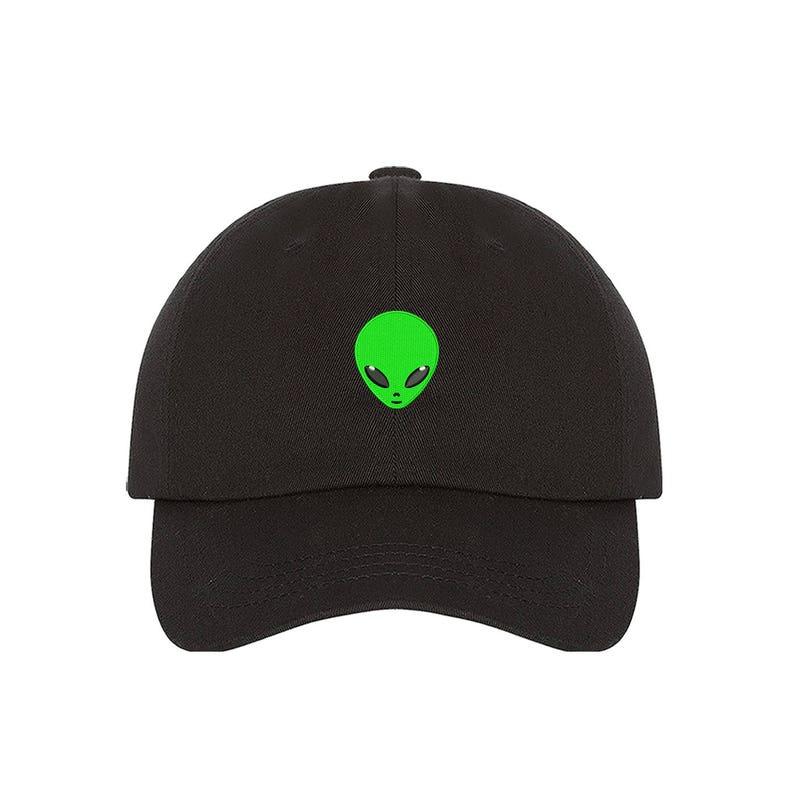 dffa2f038fd Alien Baseball hats Outer Space Hat Alien Head Cap UFO Tumblr