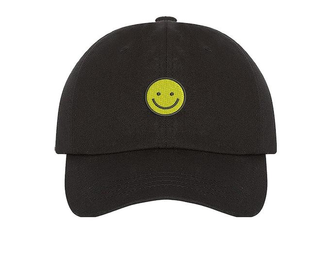 KIDS Happy Face Hat Happy Face Emoji  Baseball kids Hat, Child Cap with Happy Face Kids Baseball Toddler Cap - Many Colors Available