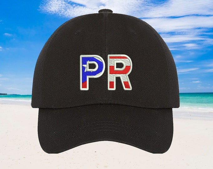 Puerto Rico Flag Baseball Hat Puertorican Festival Hats, Puertorican Flag Embroidered Baseball Cap, Puerto Rico Dad Hats, Boricua Hats