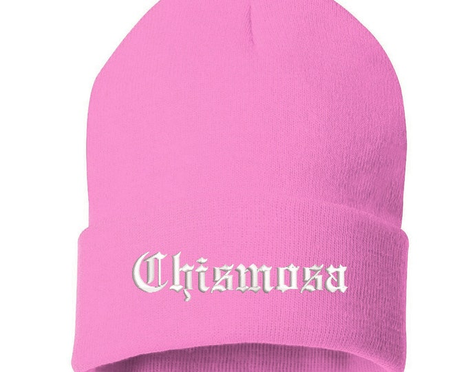Chismosa Cuffed Beanie Hat , Funny Gift for her, Gift for Girlfriend beanie, Embroidered Beanie Cap, Latina Power Cap, Latina Gifts
