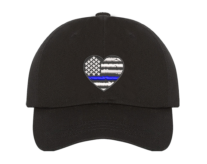 Police Thin Blue Line Baseball , Police Hat, Embroidered Dad Hat, American Flag, Dad Hat, Police Pride, Police Cap, First Responder Hat