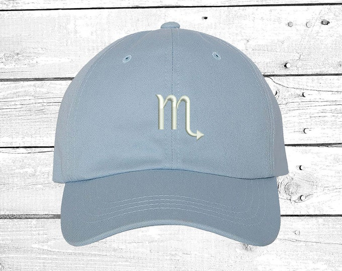 Scorpio Dad Hat Zodiac Sign Hat ,Horoscope Sign Gift, Baseball Hat Embroidered  Hat, Low Profile Curved Bill Cap, Astrology Baseball Cap