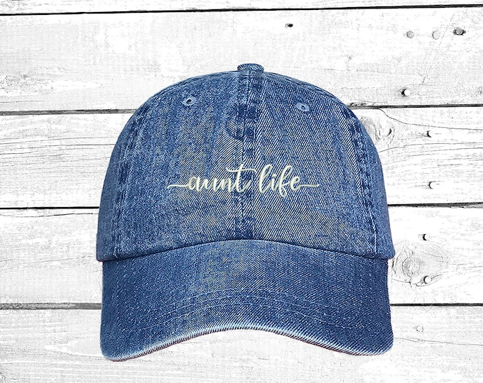 Aunt Life Hats Auntie Caps Holidays Baseball Hat Stocking Stuffers, gift for aunt Baby announcement Ready to Ship