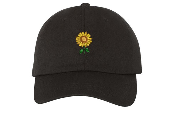 SUNFLOWER Dad Hat Embroidered Flower Baseball Cap Flower  4ae5d49fac6