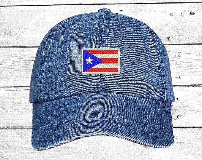 Puerto Rican Flag Baseball Hat Puertorican Festival Hats Puertorican Flag Embroidered Baseball Cap, Puerto Rico Dad Hats, Boricua Hats