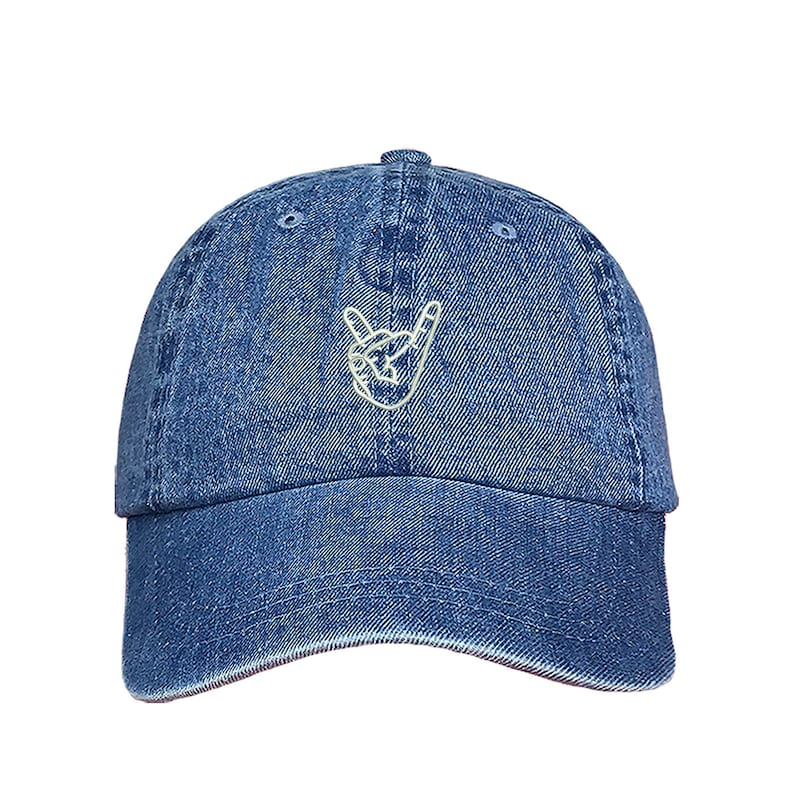 a0981ef3aab ROCK ON Hands Baseball Hat Funny Hat Profile Rock and Roll