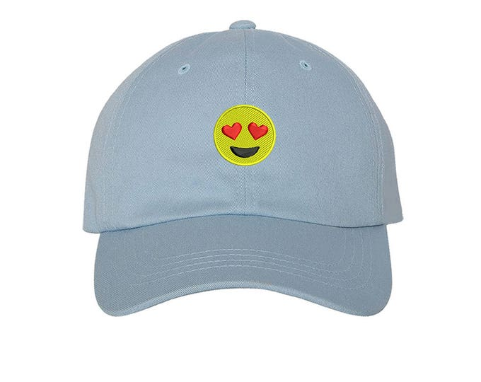 KIDS Hat | Heart Eyes Emoji | Snapchat | WhatsApp | Baseball kids Hat, Child Cap | Kids Baseball Toddler Cap - Many Colors Available