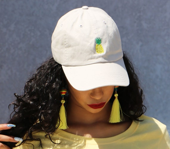 PINEAPPLE Dad Hat Fruit Baseball Hat Embroidered Pineapple  dd559689b13
